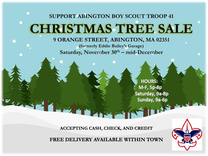 Troop 41 Christmas Tree Sale 2019